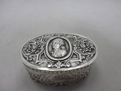 wunderschöne Hanau Tabatiere Silber punziert um 1900