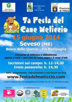 La #LegadelCane di #LAquila partecipa alla Festa del Meticcio di #Seveso (MB) il prossimo 15/6