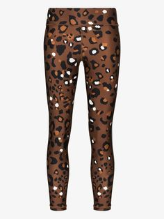 Shop The Upside Tobacco leopard print leggings from our Performance Leggings collection. Leopard Print Leggings, Printed Leggings, The Upside, Brown Fashion, World Of Fashion, Size Clothing, Stretch Fabric, Print Design, Women Wear