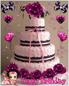 HaPpY BiRThDaY BEauTiFuL~ Birthday Cake Gif, Beautiful Birthday Wishes, Birthday Wishes Greetings, Happy Birthday Cake Images, Happy Birthday Wishes Images, Happy Birthday Video, Happy Birthday Celebration, Happy Birthday Flower, Birthday Wishes Messages
