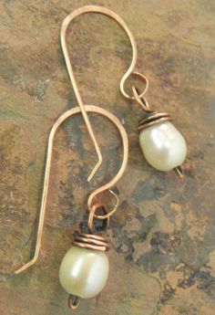 Antiqued Pearls Antiqued Copper and by ThePurpleLilyDesigns, $10.00