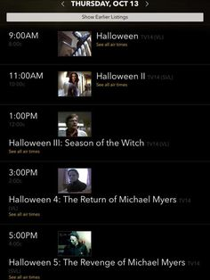 Michael myers movies