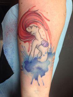little-mermaid-watercolor-tattoo