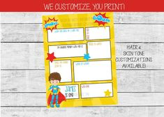 Birthday Time Capsule Printable, 1st Birthday Time Capsule | by Pretty Printables Ink on Etsy. Our boy superhero birthday capsule is the perfect way to capture memories for your child! Age, name and questions can be customized. #birthdaytimecapsule #birthdayideas #boybirthdayideas #superherobirthday #boyfirstbirthday #firstbirthdayparty #birthdaymemories Kids Birthday Party Invitations, Superhero Birthday Party, Boy First Birthday, Birthday Party Themes, Digital Invitations, Printable Invitations, Party Printables, Time Capsule, First Birthdays