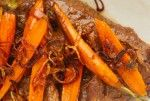 Braised Pot Roast with Baby Carrots and Crispy Shallots