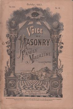 October 1887 Voice of Masonry & Family by QuinsippiMercantile, $29.95