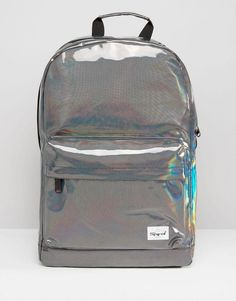 Spiral | Spiral Metallic Backpack In Silver at ASOS