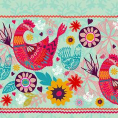 bird-border-design Claire Picard