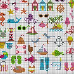 Summertime Beach patterns to cross stitch Cross Stitch PDF available