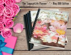 Legacy4Life Planner | May 2018 | Monthly PDF Planner | 31 Days | Daily Planner | Month at a Glance | 2 Page Week | Goals | Notes | Schedule