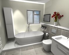 Gallery Website Freestanding Bath u Bauhaus Vanity Unit in Bathroom in Otford Kent Bathroom Design