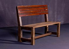 Reclaimed Barn Wood Bench by HeirloomReclaimed on Etsy, $310.00