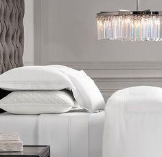 Italian Hotel Satin Stitch White Bedding Collection