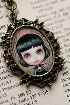 Boo - custom Blythe cameo by Mab Graves | Flickr - Photo Sharing!
