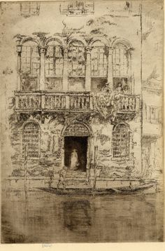 James McNeill Whistler (1834-1903), The Balcony / The Second Venice Set, 1879/80, etching