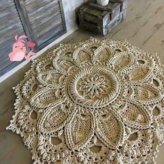Ideas for crochet blanket mandala afghan patterns Baby Afghan Crochet Patterns, Crochet Mandala Pattern, Crochet Amigurumi Free Patterns, Doily Patterns, Crochet Doilies, Knitting Patterns, Doilies Crafts, Pattern Ideas, Crochet Crafts