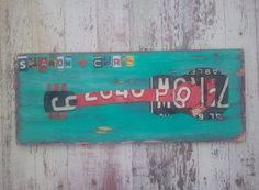License Plate Art  Funky Music Guitar Rock and by recycledartco, $100.00