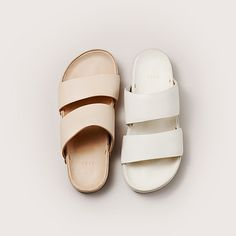 FEIT Hand Moulded Sandals in Sand and White: edition of 60. #sandals #handmade #handmoulded