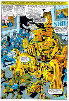 Jack Kirby  Una tavola di Jack Kirby è un tuffo nell'infanzia di chi ha più di 40 anni è ha vissuto con la Marvel sul comodino.