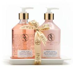 Adrienne Vittadini Studio 3-pc. Melon & Honey Blossom Bath Caddy Gift Set