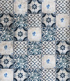 carrelage / blue & white tile