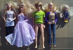 Barbie Dolls Ken Doll Lot Of 5 Mattel Clothes Mixed Fashion Assorted #Mattel #DollswithClothingAccessories