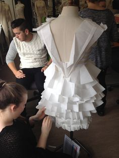 Back of the paper dress