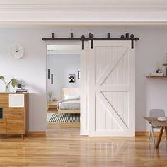 Barn Door Closet, Sliding Closet Doors, Interior Sliding Doors, Double Closet Doors, Bathroom Barn Door, Sliding Barn Door For Closet, Barn Doors For Closets, Sliding Bathroom Doors, Barn Door Decor