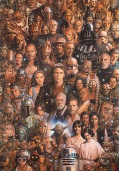 Star Wars Character Painting | Via: Bit Rebels (via Facebook) | #starwars #starwarsfanart