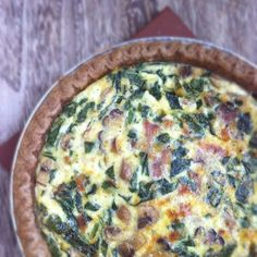Ham, Cheese & Mushroom Quiche...a great way to use some leftover Easter ham.