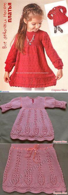 Платья для маленьких принцесс (вязание) - Страна Мам