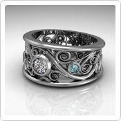 Swirl Family Ring