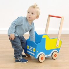 Dumper Truck Push Cart - available direct from KidsPlayKit with Free Next Day Delivery! Come take a look at our wide range of UK made wooden toys!