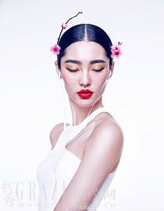 Chinese New Year/ the Spring Festival is round the corner! Model Bonnie Chen photographed by Chen Man for the latest issue of Grazia China