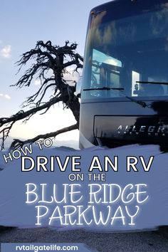 Do you want to take an RV trip on the Blue Ridge Parkway but afraid of driving your RV? Don't be afraid! You can do it - after all, I drove my Class A motorhome on the Parkway, through all the mountains, twists, and switch back turns. Find out the secrets of driving a big rig RV on mountain roads. Rv Travel, Travel Info, Travel Tips, Travel Destinations, Rv Parks And Campgrounds, Blue Ridge Parkway, Adventure Activities, Rv Life, Rv Camping