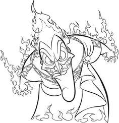 dr facilier coloring pages | Villians on Pinterest | Disney Villains, Maleficent and ...