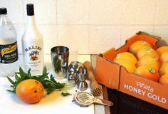 Summer Cocktail: Mango & Coconut Mojito with Malibu, soda water, fresh mint and fresh mango