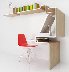 a desk that doesn't take up your whole office