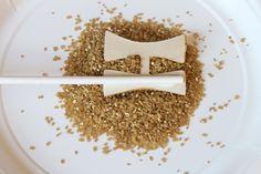 DIY Cake Topper Glitter Letters