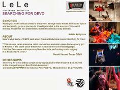 Ulotka promująca film Searching for Devo | Flyer promoting the Searching for Devo film
