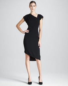 Mesh-Inset Draped Dress by Rachel Roy at Neiman Marcus. $214