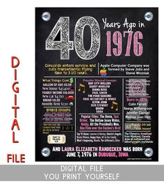 40th birthday banner birthday banners glitter banners 40th
