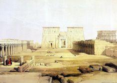 philae temple amun night - Google Search