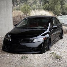 Murked Out! #honda #civic #stancenation - taken by @stancenation - via http://instagramm.in
