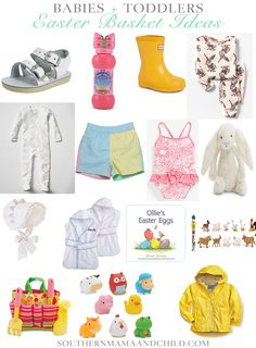 Easter basket ideas for babies and toddlers! The sweetest southern little gift ideas for your child this Spring!