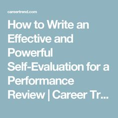 Useful Phrases For Performance Reviews  Work