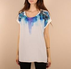Rachel Rose silk feather tee...can I do this with sharpie tie dye method?
