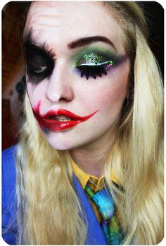 Super Make-up Halloween Joker Mädchen 16 Ideen - Makeup Style 2020 Maquillaje Halloween Joker, Joker Halloween Makeup, Girl Joker Makeup, Female Joker Makeup, Scary Makeup, Sfx Makeup, Costume Halloween, Halloween Look, Harley Costume