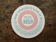 Boekdruk Coasters Bierviltjes Drink Coasters door PaintedPonyPress