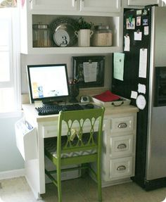 cables, and cords, and wires oh, my…great tips on organizing a desk in the kitchen